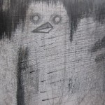 """good mourning?...""(""good mourning?..."" series detail) - 5"" x 7"" Pencil/Ink/Acrylic Paint"