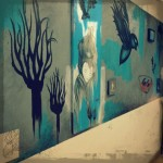 """timeline..."" - Intallation at the Flat Iron Arts Building in Wicker Park - ""Now..."" Mural Show Installation 2012"